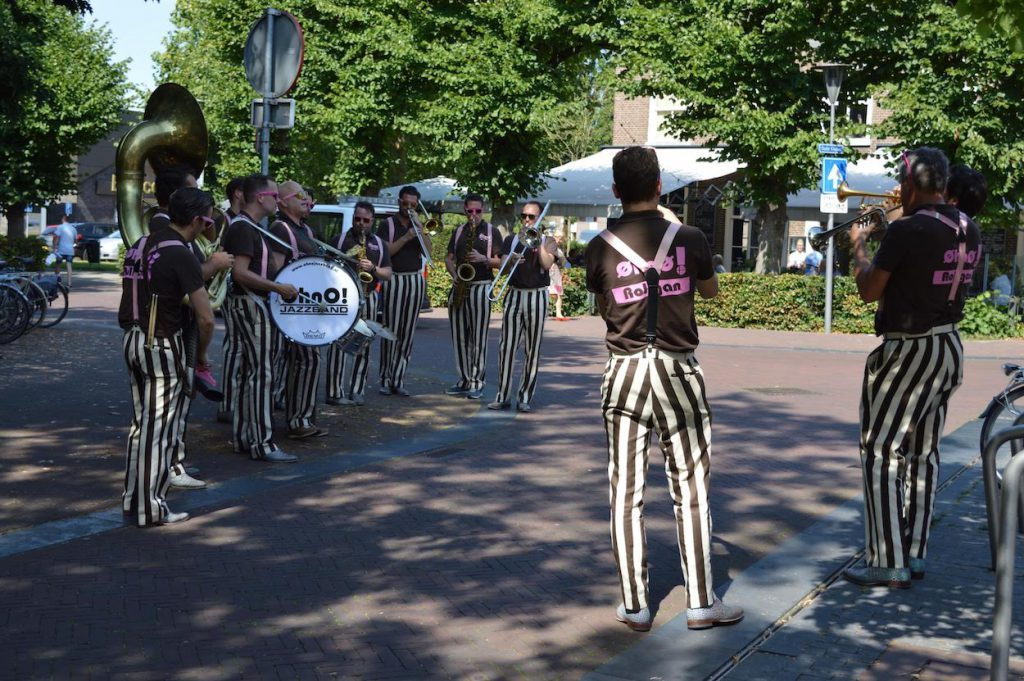 Jazz band in the middle of the street in Wijchen